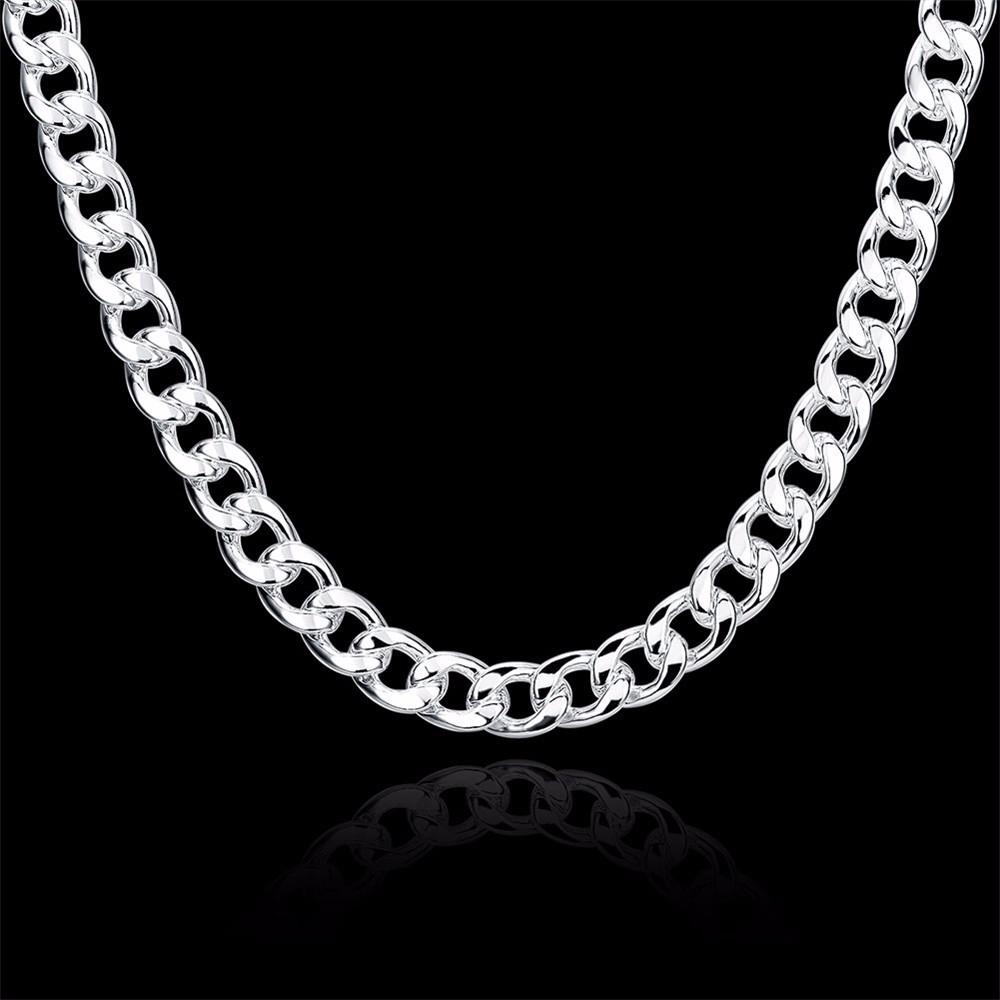 8-925 Sterling Silver Men Jewelry 24 inches Choker Statement Necklaces Women Vintage Collier Colar Bijoux Collares kolye QA0711