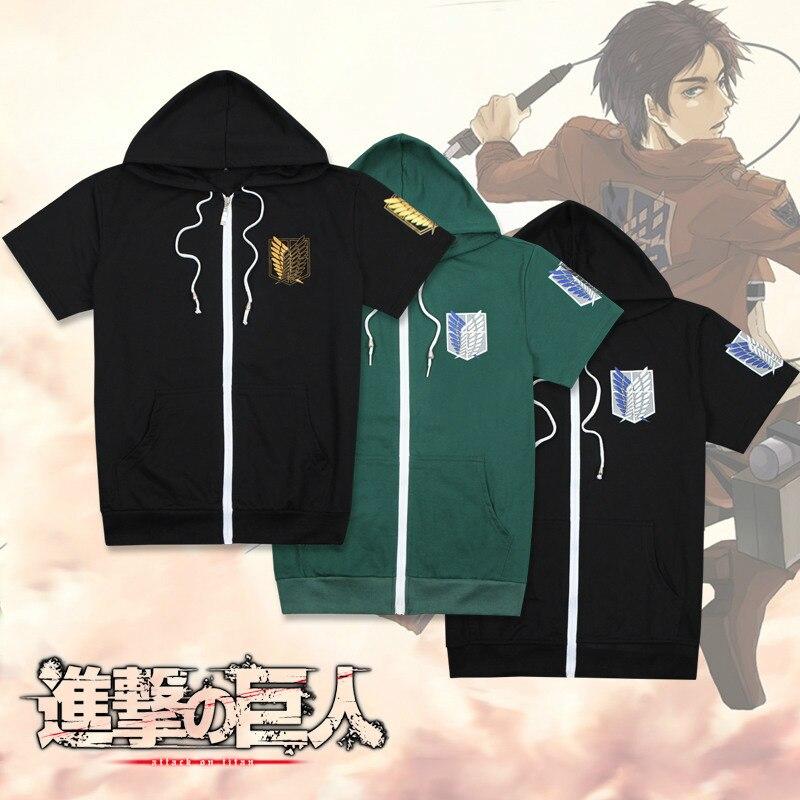 2 STYLES women menAnime Attack on Titan Cosplay Costume Shingeki no Kyojin Anime T-Shirt Tee Cotton  Anime HOODIE T Shirt