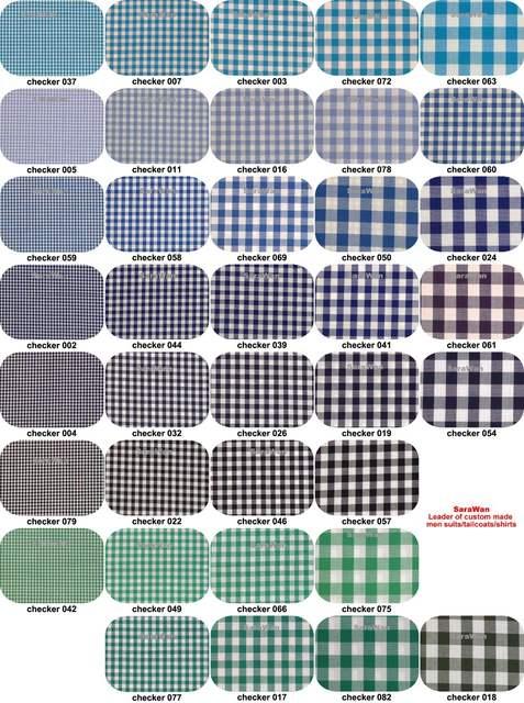 Placeholder  Cotton Mens Gingham Dress Shirt Custom Mad Checkered Shirttailored Mens Checkered Shirts