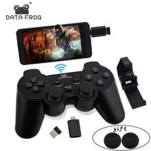 Беспроводной геймпад для пк для ps3 android phone tv box джойстик 2.4 г joypad контроллер игры пульт дистанционного управления для xiaomi otg смарт телефон