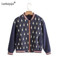 Lanbaiyijia Newest Autumn Women jackets Stand Collar Long Sleeve Embroidery Cats Back Pendant Outerwear Women baseball Jackets