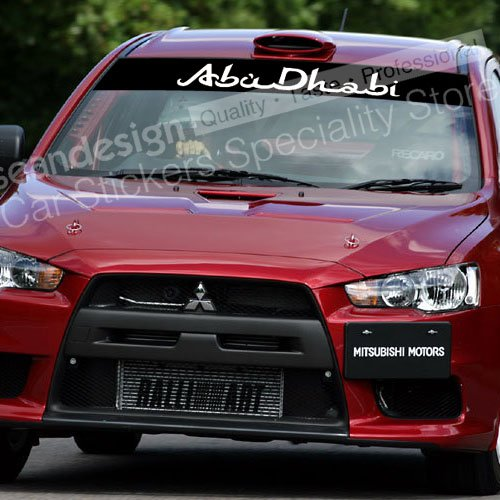 Abu dhabi wrc g07 windshield decal sticker pvc in car stickers from automobiles motorcycles on aliexpress com alibaba group