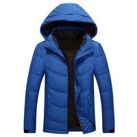 Теплая зимняя куртка с капюшоном мужская одежда парки Толстые ветрозащитный пуховики мужские пальто зимняя куртка гусиное перо зимняя пар...