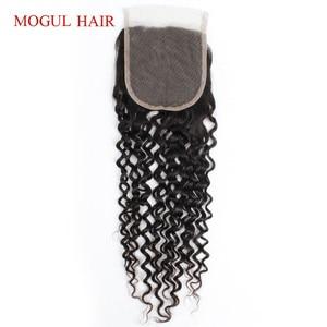 Image 5 - ברזילאי ג רי מתולתל ברזילאי שיער 4x4 תחרה סגירת יד קשור טבעי שחור חום כהה ללא רמי שיער טבעי הארכת