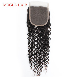 Image 5 - Brazilian Jerry Curly Brazilian Hair 4x4 Lace Closure Hand Tied Natural Black Dark Brown Non Remy Human Hair Extension