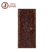 JOYIR wallet women luxury brand Genuine Leather Decorative pattern design of Ms slim long purse Clutch Coin Purses card holder(China)