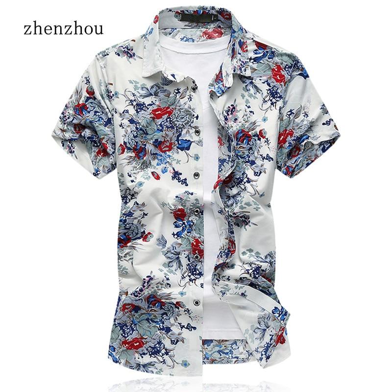 مردان تی شرت ZhenZhou پیراهن آستین کوتاه - لباس مردانه