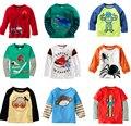 1 - 6 лет мальчики - дети тис мальчик бренд футболки дети тройники с длинным рукавом 100% хлопок джемпер свитер куртка рубашки