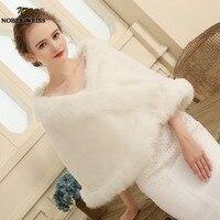Delle Donne libere di trasporto Ivory Faux Fur Matrimonio di Grandi Dimensioni Scialle Da Sposa/Wrap Stole Shrug Bolero Cape