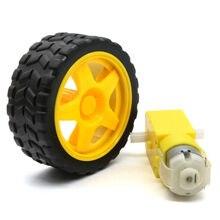 DIY Accesorios Engranajes Robusteza Elegante Del Coche de Plástico Remoto Controlador + Motor Neumático neumáticos rueda para Arduino coche inteligente