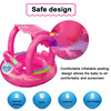 Summer Baby Flamingo Pool Float Safety Swimming Rings Inflatable Swim Float With Sunshade Seat Raft Water Fun Pool Toys 2