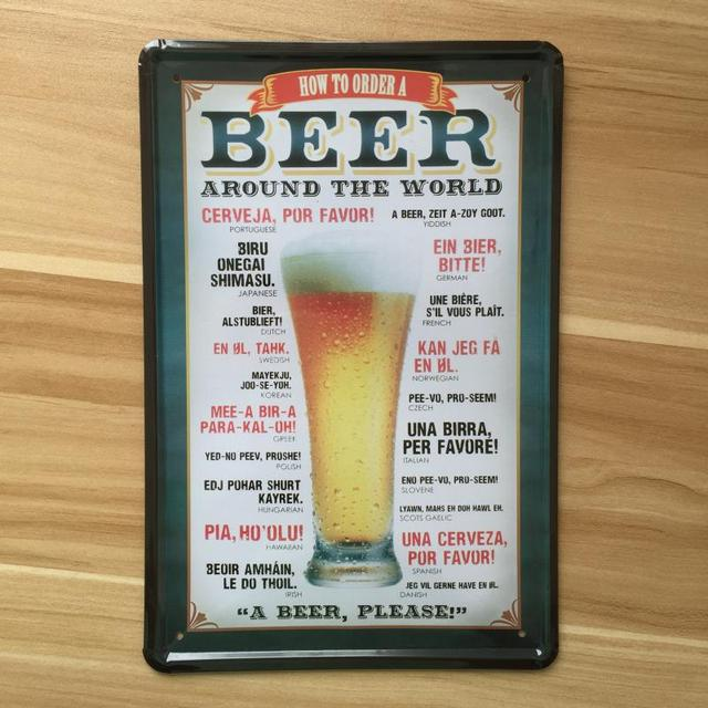 About Beer And Wine Whiskey Vintage Metal Tin Signs RO 0397 Retro Metal Plaque  Home