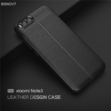 For Cover Xiaomi Mi Note 3 Case Shockproof Luxury Leather Anti-knock Phone
