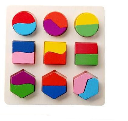 new arrive Montessori Early Childhood children wooden toys three-dimensional jigsaw puzzle kids geometric shape puzzles MG01Puzzles & Games
