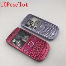 10Pcs/lot Full Housing For Nokia C3 C3-00 Back Case Battery Cover Front Middle Frame Keypad C3-00 Replacement Part