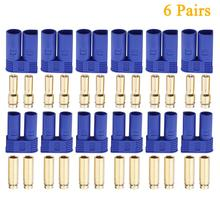 12pcs 6 Pairs of EC5 Banana Plug Bullet Connector Female Male for RC ESC LIPO Battery/Motor 20 pairs gold tone metal rc banana bullet plug connector male female 4mm