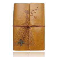 Refillable Leather Notebook 7 X 5 Inch Retro Journals Christmas Gift For Art Sketchbook Travel Diary