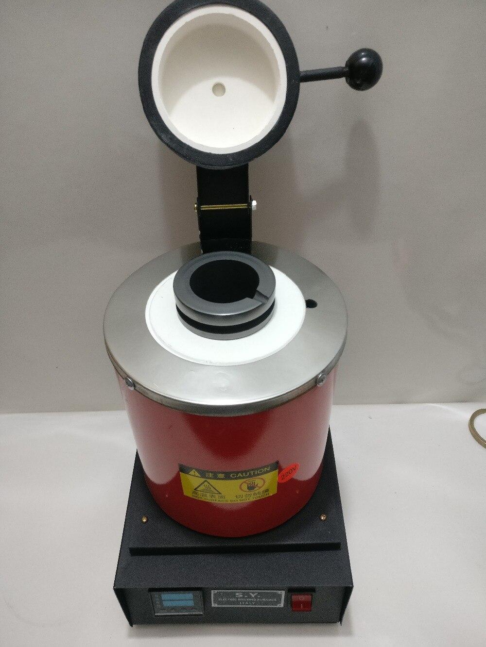 Haute-température Petit Fours de Fusion, Or Four De Fusion avec 2 kg Graphite Creuset 220 v