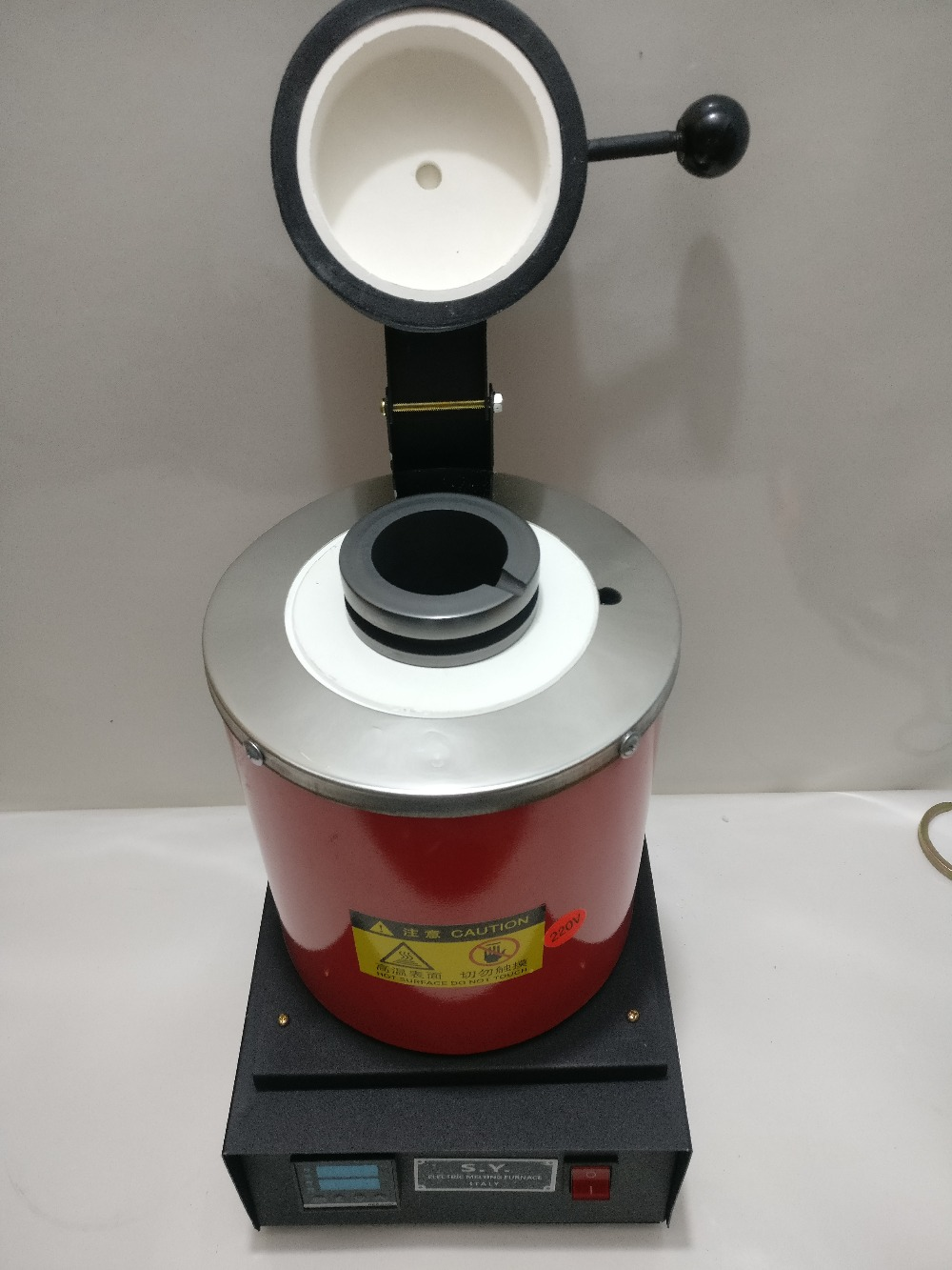 Hohe-temperatur Kleine Schmelzöfen, Gold Schmelzofen mit 2 kg Graphit Tiegel 220 v