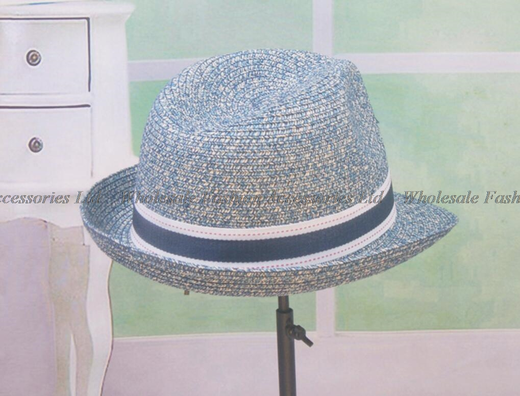 8pcs 2018 Men Heather Handmade Fedora Paper Straw Hats Women Summer Trilby  Caps COOL Mens Sun Straw Fedoras Hat Wholesale 32332dabca