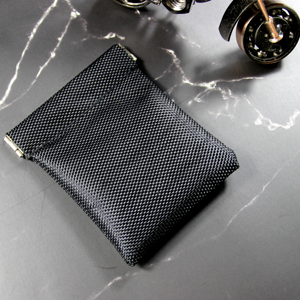 New Metallic Frame Oxford Coin Purse Women Men Mini Short Wallet Money Change Earphone Organizer Bag Portable Card Holder Solid