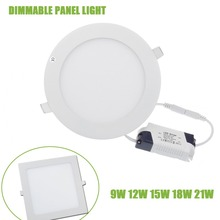 Яркостью регулируемой квадратные белый/теплый встраиваемые круглые потолочные светодиод светильники smd панели