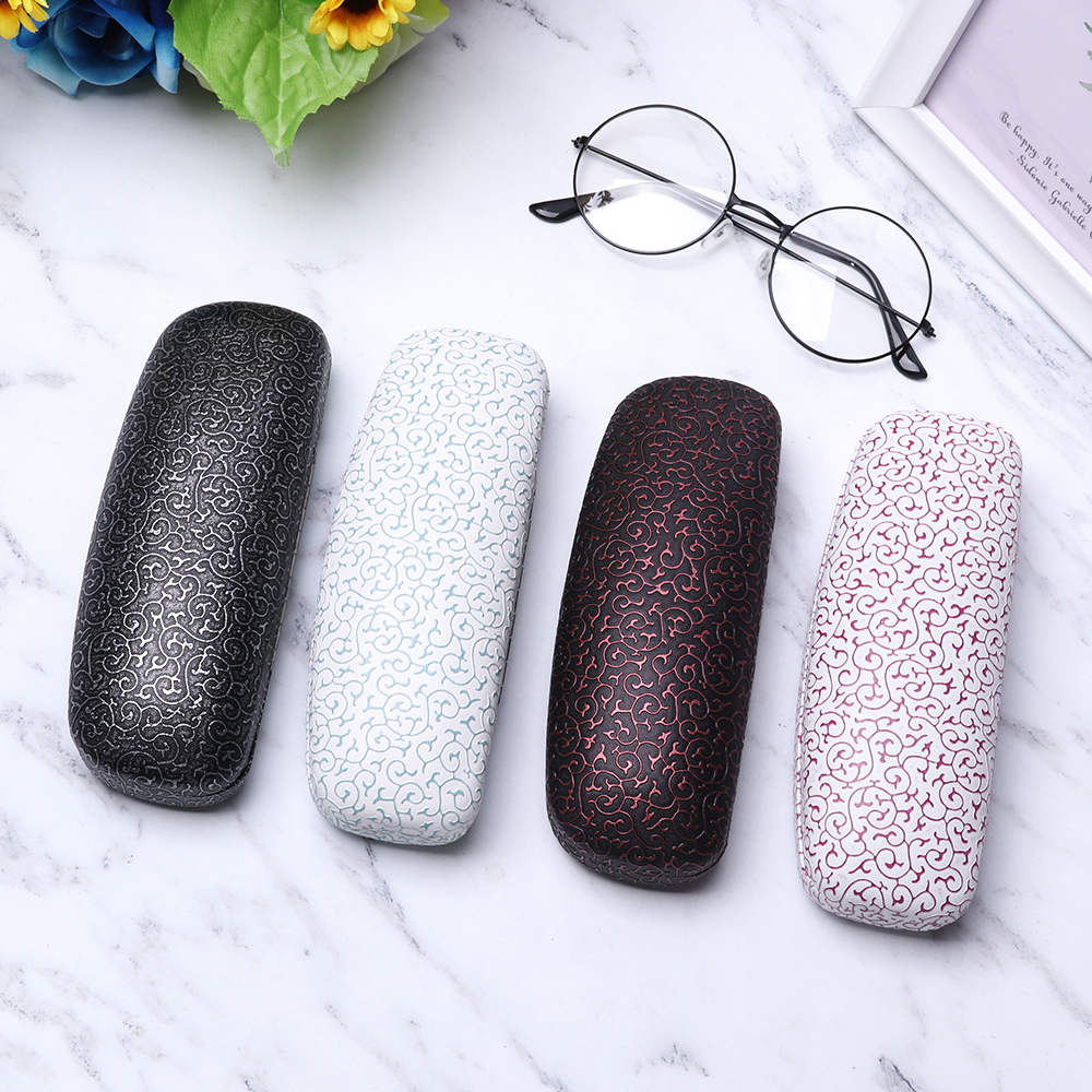 New Fashion Print Eyeglasses Box Sunglasses Eye Glasses Case For Women Men Hard Metal Glasses Protector Box Eyewear Accessories