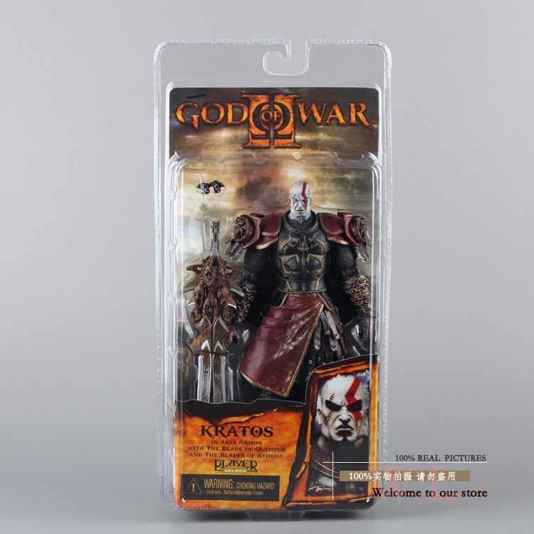 """1 шт./лот 7 """"NECA God of War 2 II Кратос в Ares брони W лезвия ПВХ фигурку игрушки кукла Chritmas подарок Горячая Розничная MVFG147"""