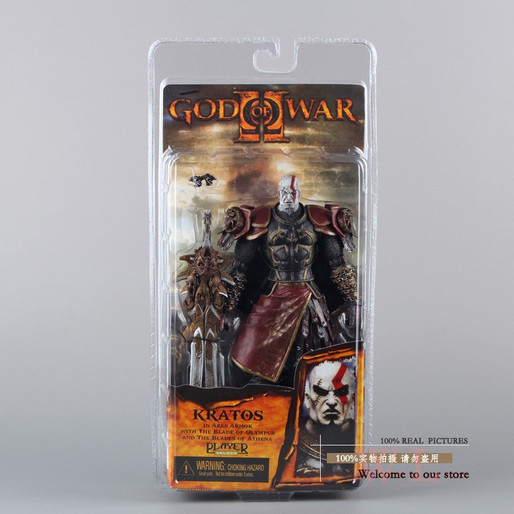 """1pcs/lot 7"""" NECA God of War 2 II Kratos in Ares Armor W Blades PVC Action Figure Toy Doll Chritmas Gift hot retail MVFG147"""