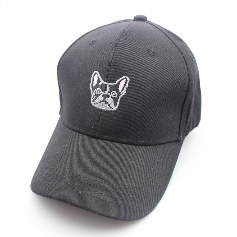 Hot Embroidery Cute Dog Cartoon Cotton Kpop Hats Dad Hat Men Women Baseball Cap Dancing Sport Adjustable Hip hop Snapback
