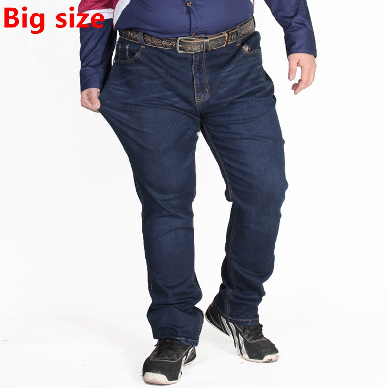 Plus size autumn new fertilizer plus-size men denim pants big and Tall high waist elastic big size nutty dark jeans nutcase little nutty superstar xs