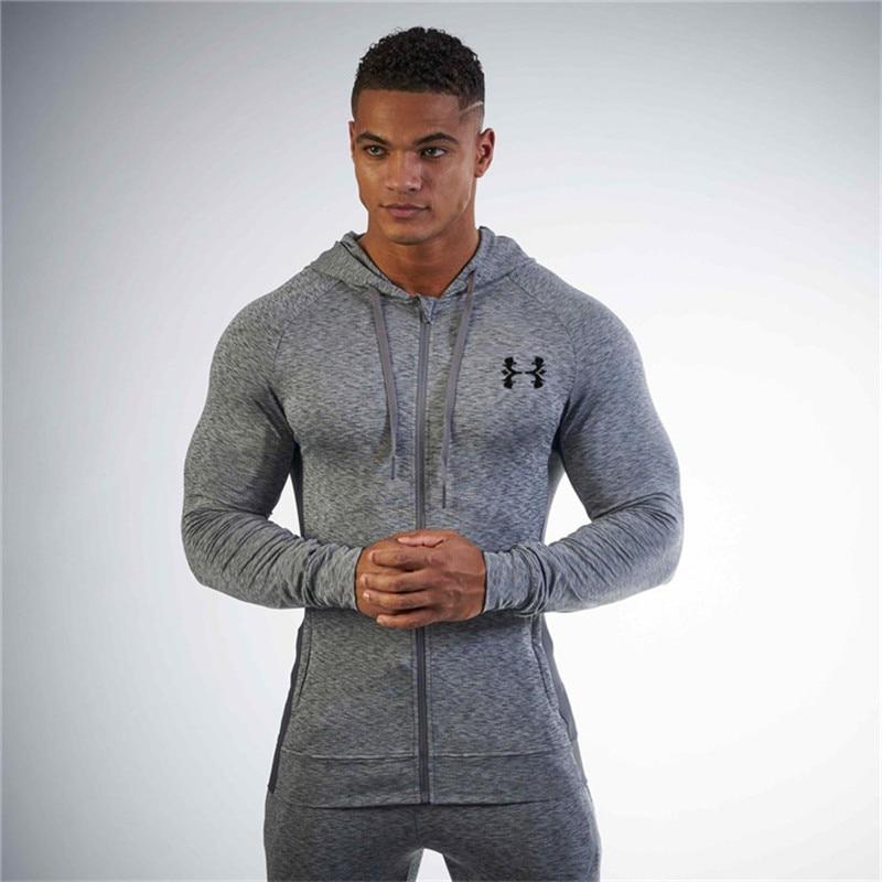 Running Jacket Men Sport Slim Fit Sweatshirt Long Sleeve Hooded Hoodies Socccer Training Jersey Windproof Coat Gym Sportswear недорго, оригинальная цена