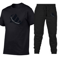 Fashion Two Pieces Sets Men T Shirts+pants Suit 2019 Summer Tops Tees Fashion Brand Print Tshirt High Quality Sportswears 2 Sets