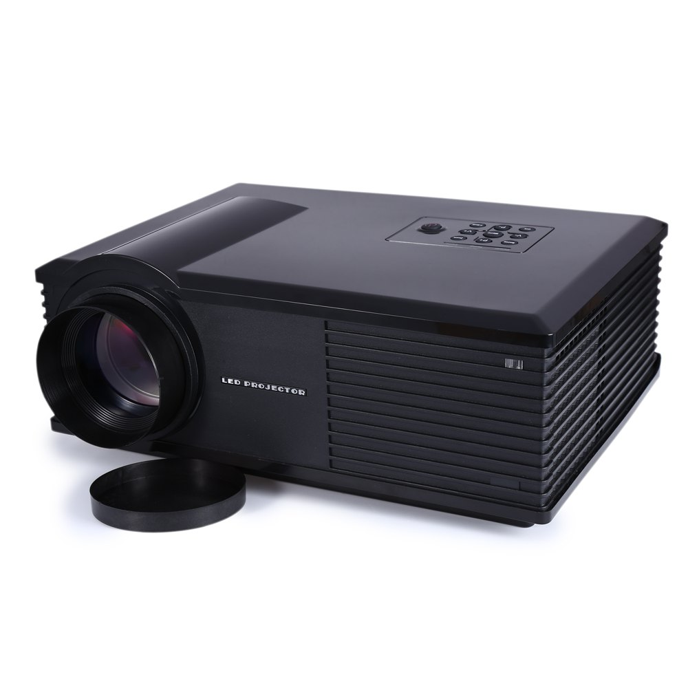 Geekwire lp 1 portable fhd 1080p led projector w hdmi vga for Portable hdmi projector