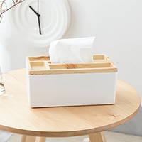 BF040 Wood color desktop partition type paper towel box tissue 24.5*13.3*11cm free shipping