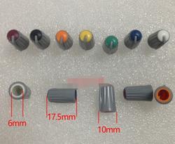 Mix 7 цветов полукруглая Ручка потенциометра ручки для регулировки громкости звука 10*17,5 мм