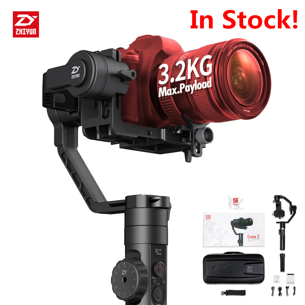 Zhiyun Crane 2 Handheld 3-Axis Camera Stabilizer Steadicam Follow Focus Gyro Gimbal for Canon 5D3 Nikon DSLR Mirrorless Camera afi vs 3sd handheld 3 axle brushless handheld steady gimbal stabilizer for canon 5d 6d 7d for sony for gh4 dslr q20185