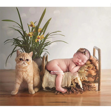 Newborn Photography Accessories Props Wrought Iron Vntage Cot for Baby Posing Shooting Boy