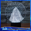 3D Vision Jokul Snow Mountain 7 Colorful Gradients LED Acrylic Plate Desk Lamp Bedroom Decoration Night