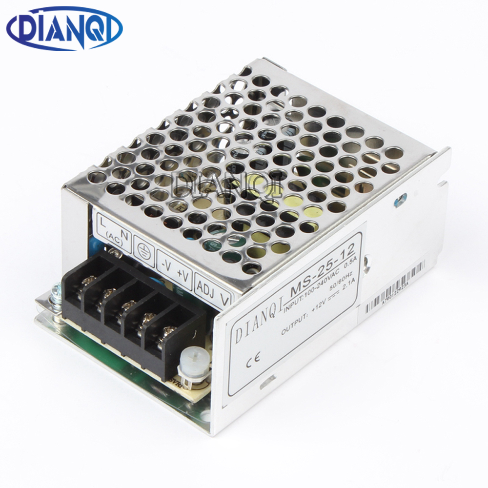 DIANQI power supply unit 25w 5v 12v 15v 24v 5a 2.1A 1.7a 1.1a power suply 25w 12v mini size din led ac dc converter pka2211pi 24v 5v 25w dc dc power supply module