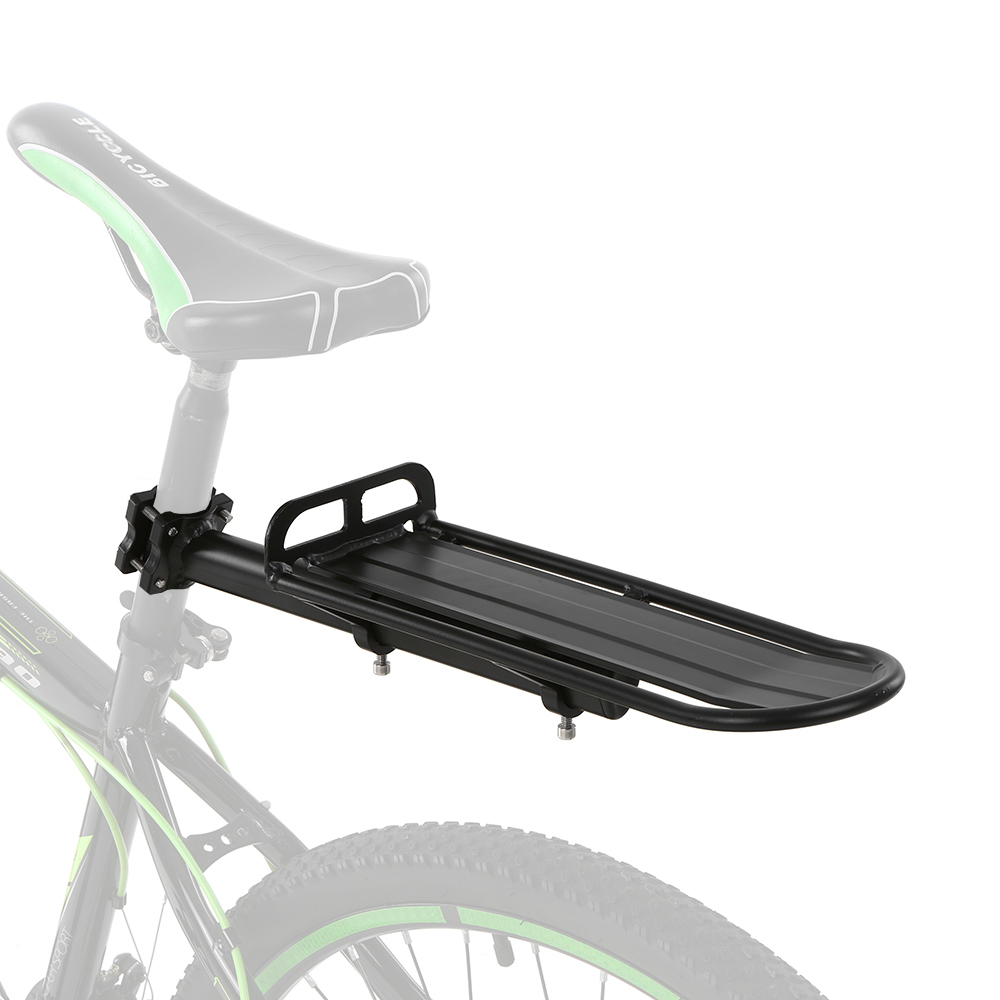 Black Sport Bike Alloy Rear Rack Carrier Seatpost Pannier Pack Frame Bicycle Bag