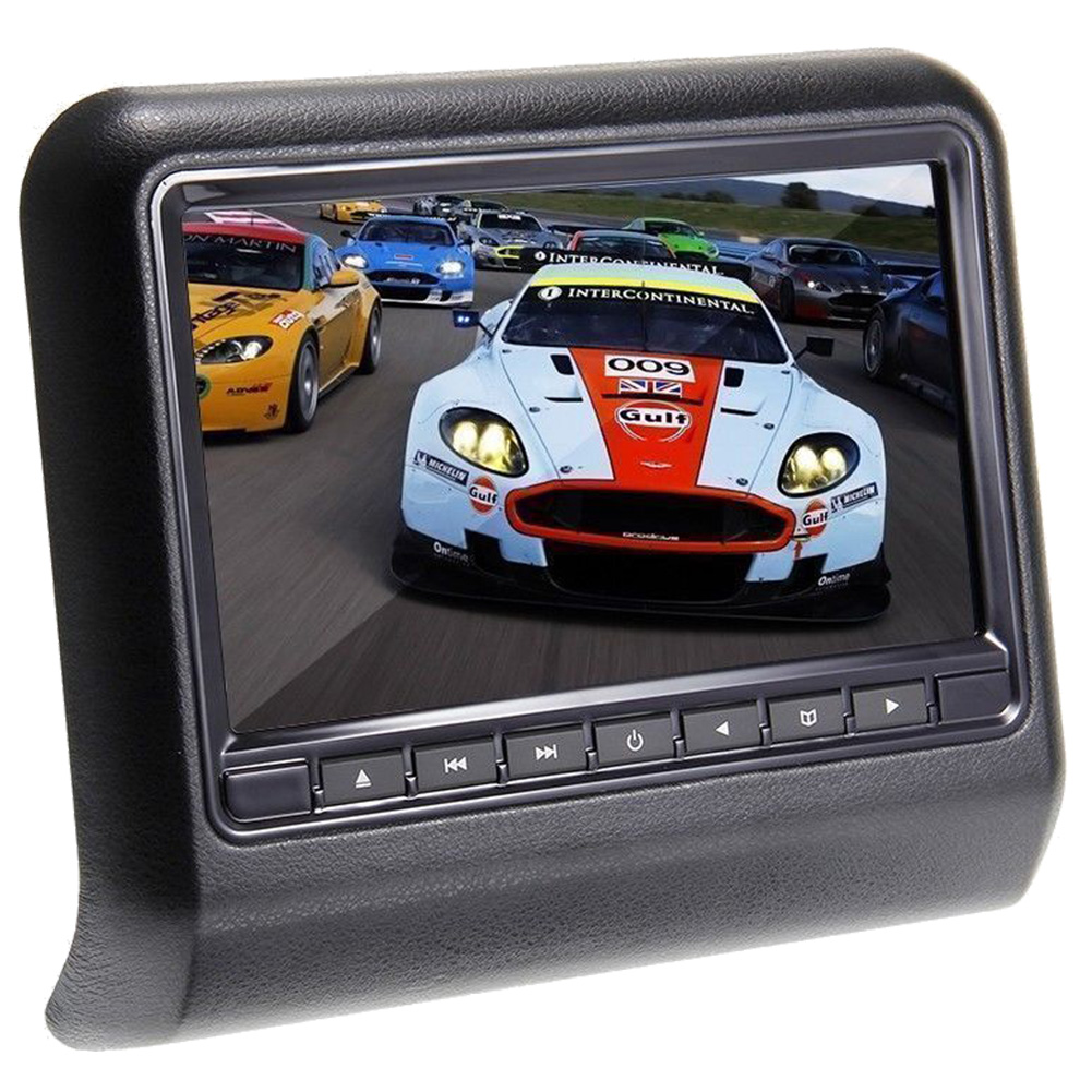 9 800*480 Car Headrest Monitor DVD Player USB/SD/HDMI/FM/Game TFT LCD Screen Touch Button Support Wireless Headphone