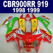 24 Fairings For honda CBR900 RR 919 1998 1999 ( Fairing kit ) cbr 900rr 98 99 EMS free CN10