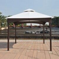 3*3 м беседки железная рама плетеная ротанга шатер уличный железная палатка патио павильон сад солнце тени мебель дом