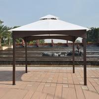 3*3 meter gazebos iron frame wicker rattan outdoor gazebos iron tent patio pavilion garden sun shade furniture house