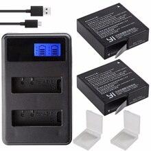 Original para xiaomi yi 4k bateria AZ16 1 usb lcd carregador duplo ação câmera 2 4k + lite acessórios 1400mah bateria recarregável