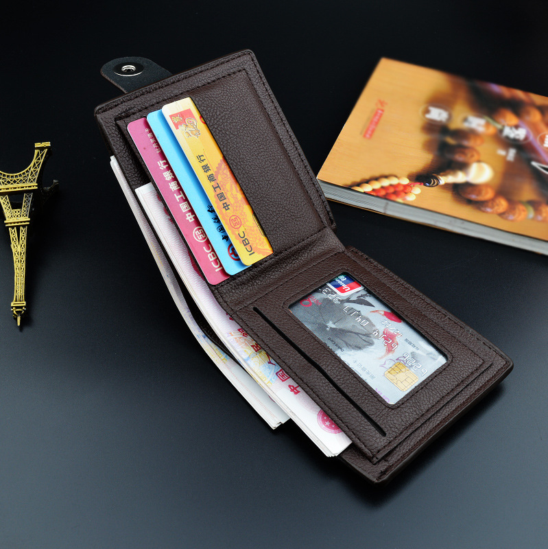 Hot Sale Men's Wallet Fashion Pu Leather Men Wallets Luxury 1