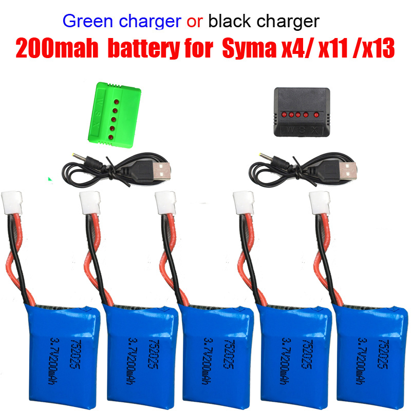 3.7v 350mah lipo battery usb charger cable for x5 x5c rc drone MD