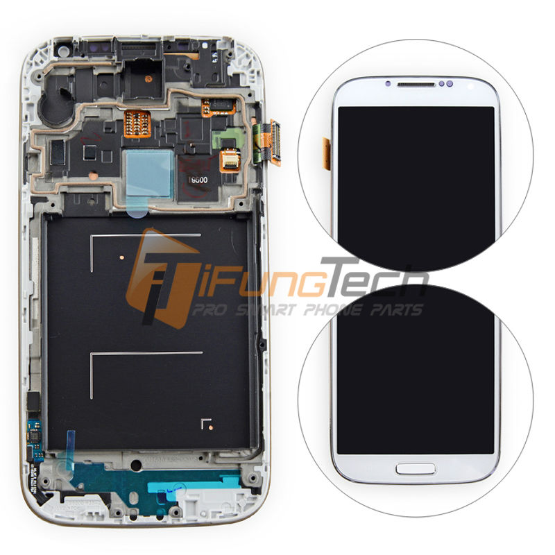 20PCS DHL S4 i9505 i9500 LCD for Samsung Galaxy S4 LCD Display Touch Screen Digitizer i9505 Frame Assembly Replacement replacment lcd for samsung for galaxy s4 i9505 lcd display touch screen digitizer frame assembly one piece free shipping