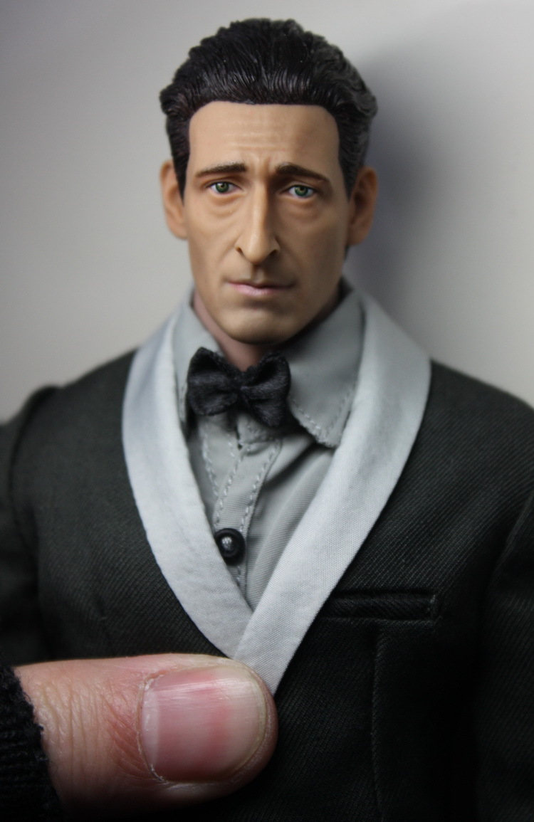 ФОТО Oscar winner 1/6 The Pianist Adrien Brody headsculpt for DIY 12inch doll Parts Man Head shape